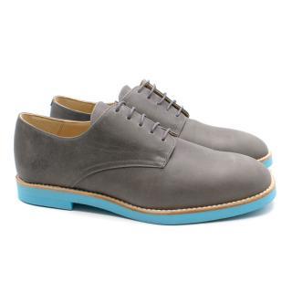 T&F Slack Shoemakers London Grey Savi Derby Shoes