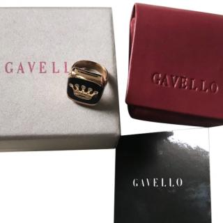 GAVELLO Diamond Crown Signet Ring
