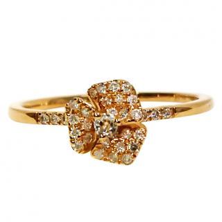 As29 Diamond mini Flower Ring RRP �980.00 18ct Rose gold