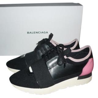 Balenciaga Race Runners Black/Pink