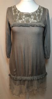Strena Grey Chic Summer Dress