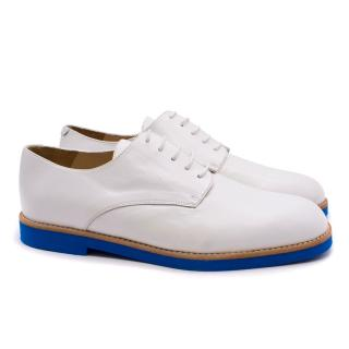 T&F Slack Shoemaker White Brogues