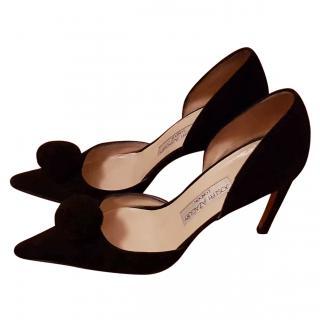 Joseph Azagury Black Suede evening shoes 5