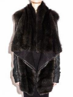 Rick Owens Hun Coat from Fisher Pekan Fur