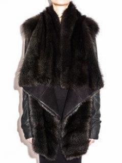 Rick Owens Hun Coat from Fisher Pekan Fur