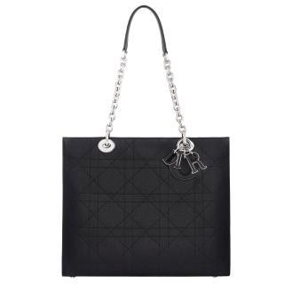 Dior Grained Shoulder Tote Bag