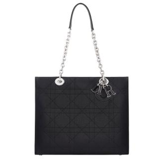 Dior Grained Shoulder Tote Bag