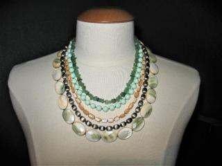 Dyrberg/Kern necklace with jade