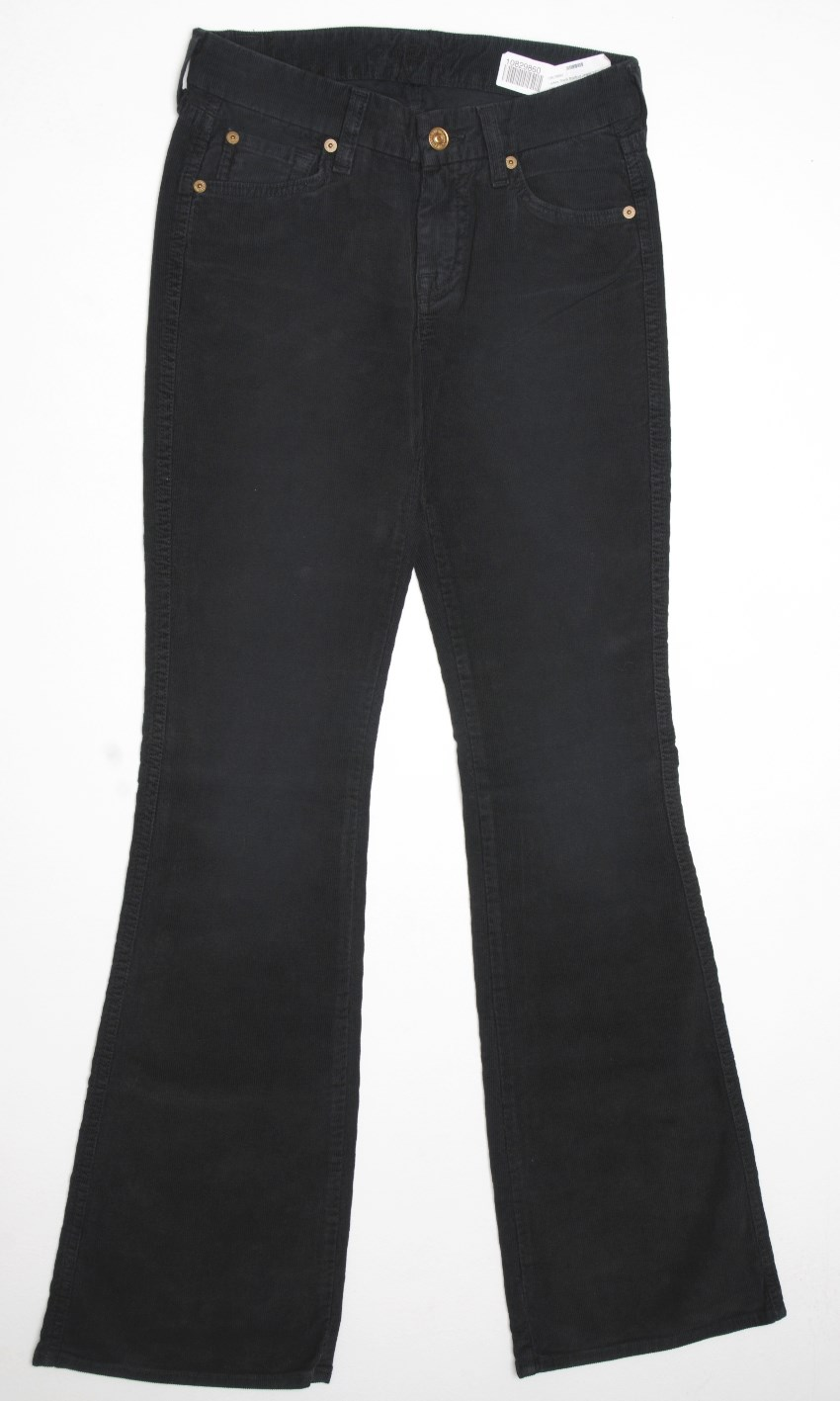 7 for all mankind black cordroy jeans