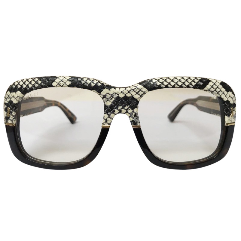 36b5076d440 Gucci Retro Snake Leather Frames