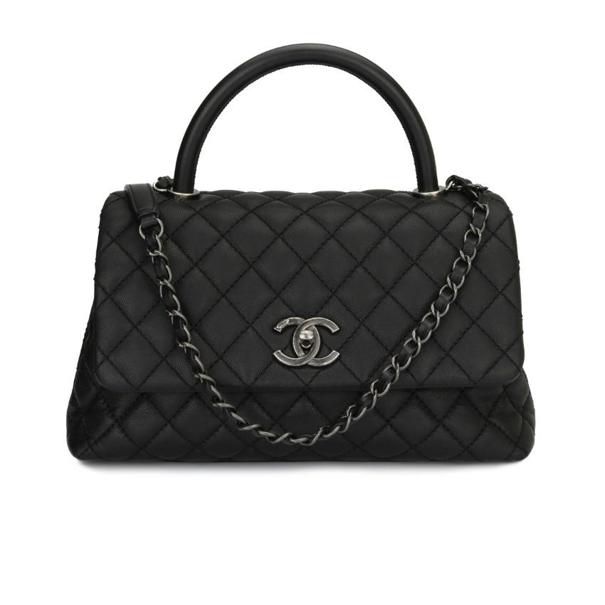 1344c27695fcc0 Chanel Coco Handle Medium Black Caviar   HEWI London