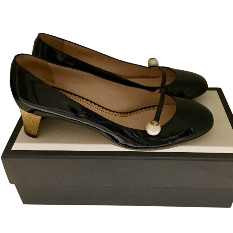 d8dd96d10de2 Gucci Arielle Patent Mary Jane Pump135549