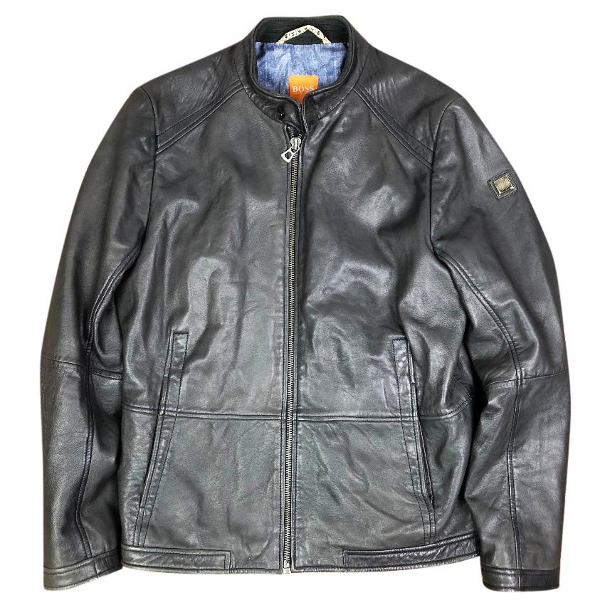 27187f1a0 Hugo Boss Jelon Leather Biker Jacket