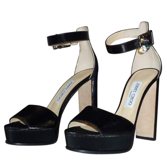 Jimmy Choo black ankle strap sandals