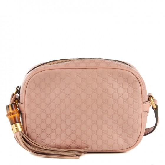 f5dbdaebb136d Gucci Monogram Sunshine Micro Guccissima Disco Crossbody Pink Bag ...