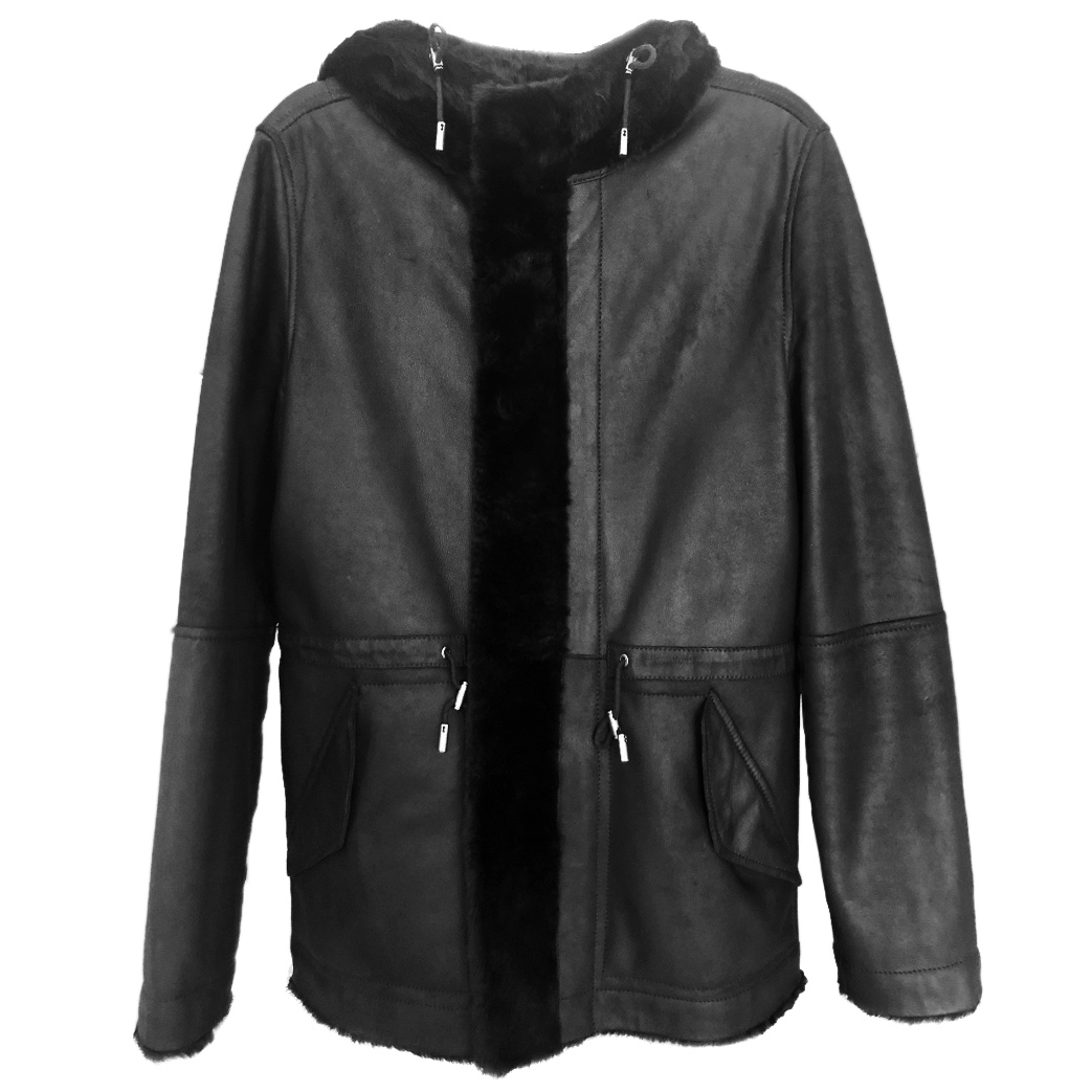Yves Salomon Homme Fur/leather Hooded Army Coat