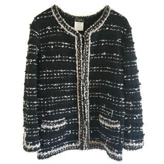CHANEL Black & Ivory Cardigan Jacket 42 44