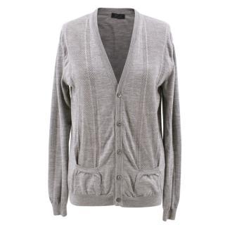 Prada Grey Cardigan