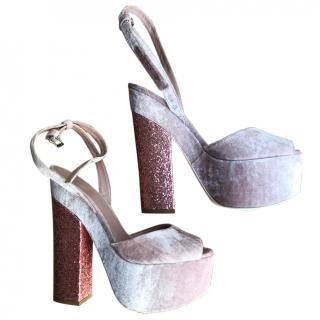 Giamba Pink Platform Sandals