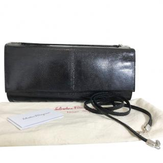 Salvatore Ferragamo Lizard Skin Clutch