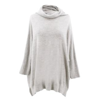 Amanda Wakeley Grey Roll Neck Cashmere Jumper