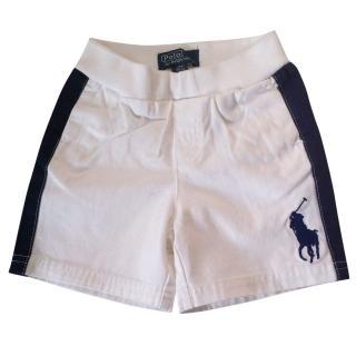 RALPH LAUREN Toddler's white shorts