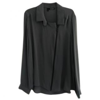 The Kooples charcoal grey blouse
