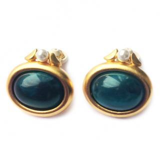 Givenchy Paris Cabochon Earrings