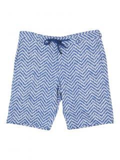 Vivienne Westwood Chevron Print blue Bermuda shorts
