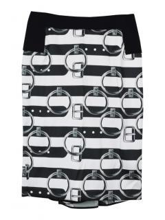 Giles handle print pencil skirt