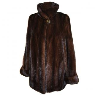 Saga Furs Real Mink Fur Parka Jacket Coat