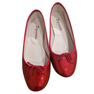 Repetto Red patent leather ballet flat