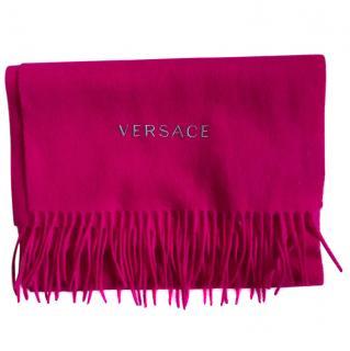 Versace Fuchsia Wool Scarf