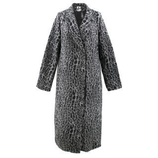 c828463ef ID(Poppy D) The Rockn Rev Grey Leopard Print Coat