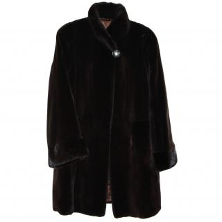 Saga Furs Sheared Mink Fur Coat