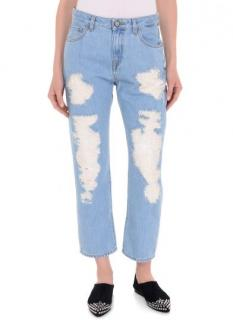 Vivienne Westwood Anglomania distressed cropped Misfit  jeans