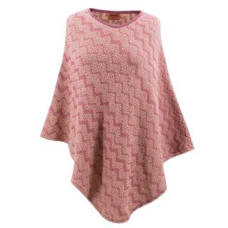 Missoni Pink Patterned Poncho