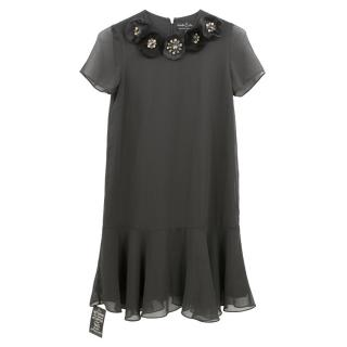 Needle & Thread Flared Dark Grey Dress