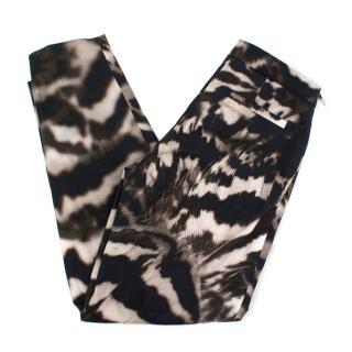 Amanda Wakeley Brown Patterned Trousers