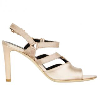 Balenciaga Natural Boudoir Satin Sandals