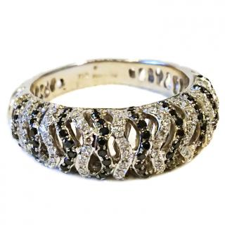 Black & White Diamond Ring 18ct Gold RRP �1600