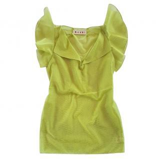 Marni anise green top