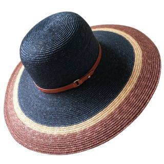 Emilio Pucci Large Wide Brim Straw Hat