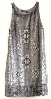 Ralph Lauren Polo runway silver sequined mini dress