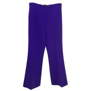 Roland Mouret Purple Wool Trousers