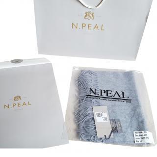 N.Peal cashmere scarf flannel grey