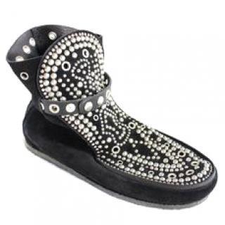 Isabel Marant Morley studded suede moccasin style loafer boots