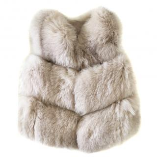 Bespoke Handmade Nude Fox Fur Gilet