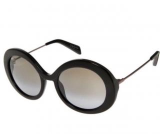 Yohji Yamamoto Iconic Black Round Sunglasses Style YY5001 Box - NEW