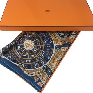 Hermes Les Chemins Secret 100% silk scarf